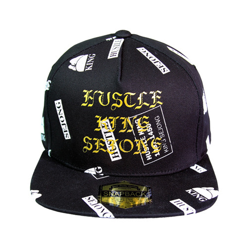 KING SEJONG white pattern snapback